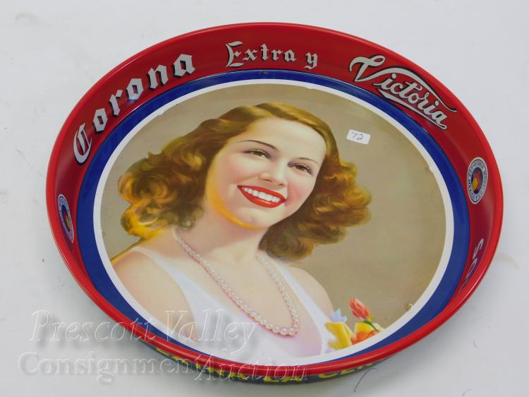 Vintage Corona Extra Victoria Beer Advertising Serving Tray