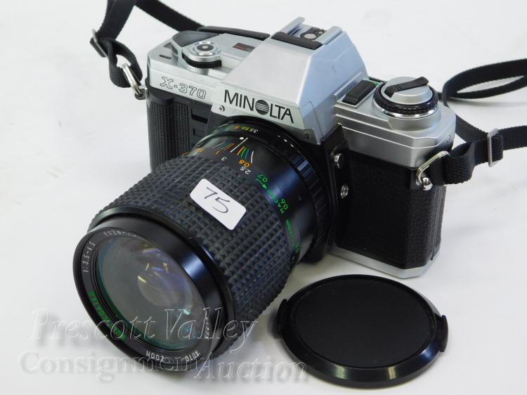 Minolta X-370 35mm Film Camera with 28-70mm Lens
