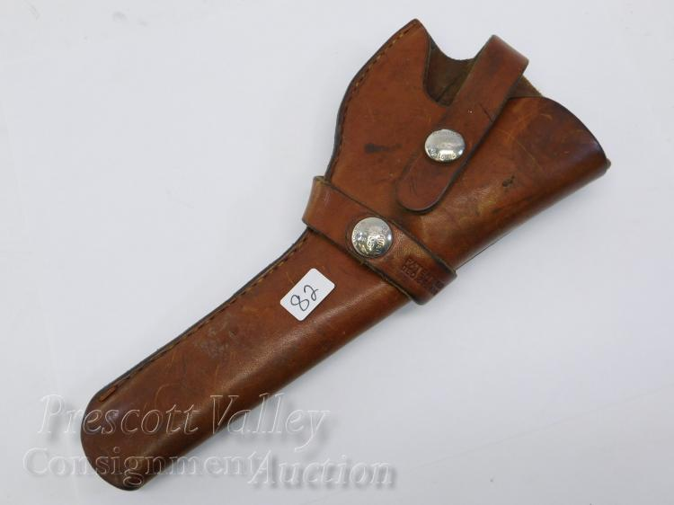 Vintage Brauer Bros Inc Moose Brand Sporting Goods Leather Gun Pistol Holster