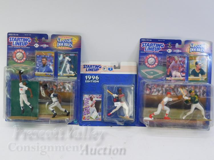 Lot of 3 Starting Lineup 1996 and 1999 Mark McGwire Ken Griffey Jr Eddie Murray Action Figures