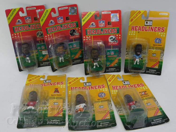 Lot of 7 1998 NFL Headliners Figurines in the Package