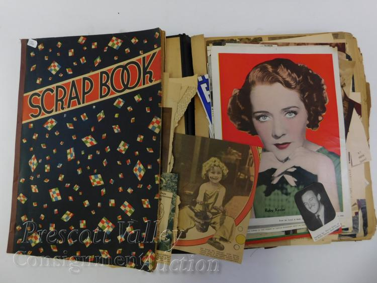 Vintage Movie Memorabilia Ephemera Cartoon Scrapbooks and Our Gang Coloring Book