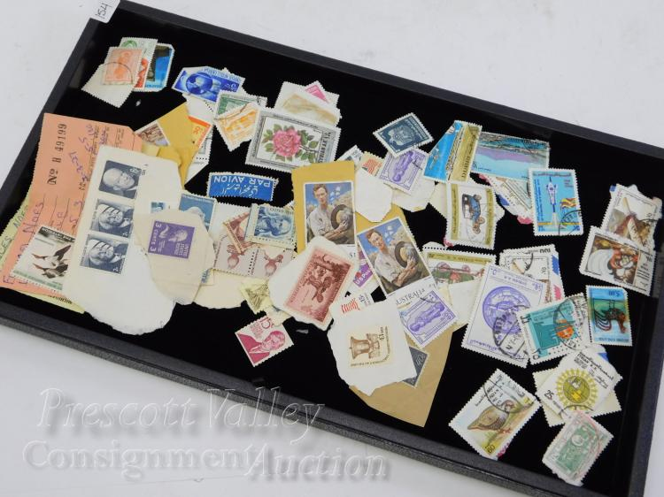 Lot of Vintage US and Foreign Stamps