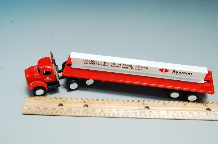 Lot 9: Vintage Winross Ryerson Steel I Beam Advertising Semi Truck & Trailer