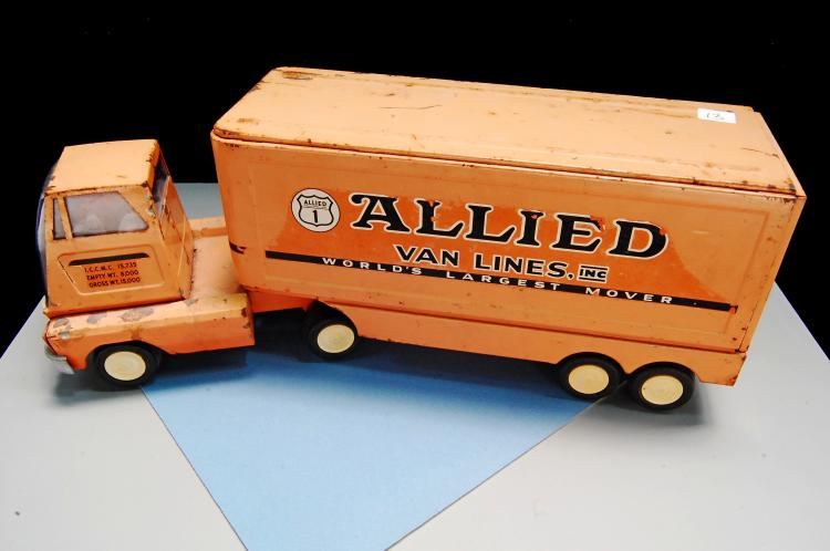 Vintage Tonka Allied Moving Pressed Steel Semi Truck