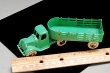 Lot 15: Antique Tootsie Toy Express Semi Truck & Trailer