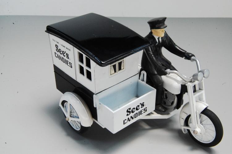 Modern Sees Candy Motorcycle Delivery Cart
