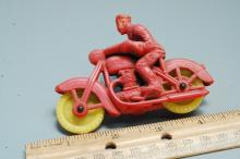 Lot 23: Antique Auburn Rubber Co Harley Davidson Motorcycle