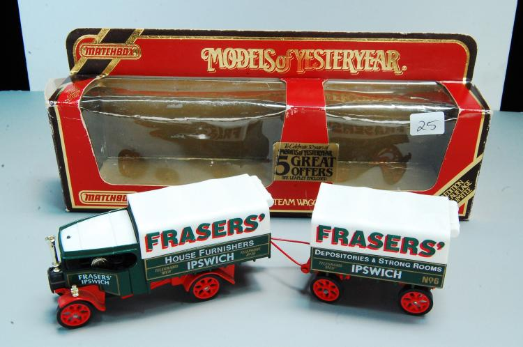 Vintage Matchbox 1/43 1922 Foden C Steam Wagon & Trailer