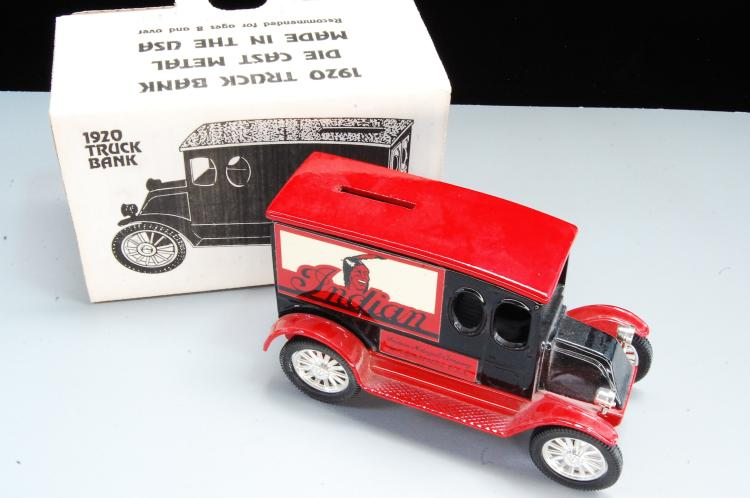 Lot 53: Vintage Scale Models 1920 Truck Bank in Box