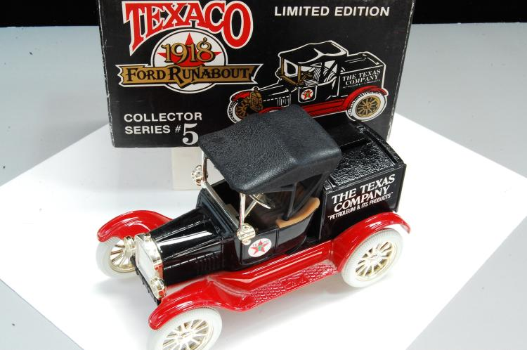 1988 Ertl Texaco 1918 Ford Runabout Diecast Coin Bank