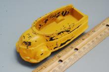 Lot 70: Vintage Sun Rubber Co Dump truck toy
