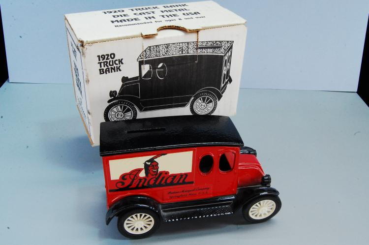 Vintage Ertl 1920 Diecast Indian Motorcycles Truck