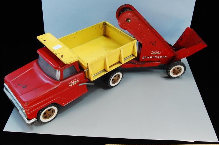 Vintage Tonka Dump Truck with Sandloader Trailer