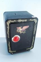 Lot 107: Vintage Mosler Junior Large Toy Coin Bank Safe