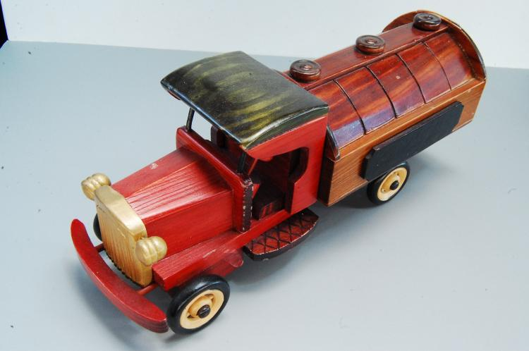 Vintage Farmutual Insurance Wooden Toy Gas or Oil