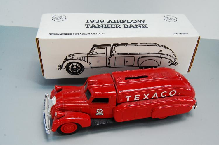 1993 Ertl 1939 Airflow Tanker 1/34 Scale Bank