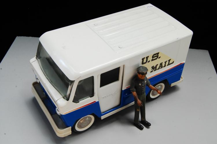 Vintage Buddy L Pressed Steel US Mail Carrier Van