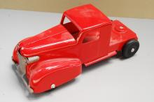 Lot 157: Antique Restored Red Wyandotte? Semi Truck Cab