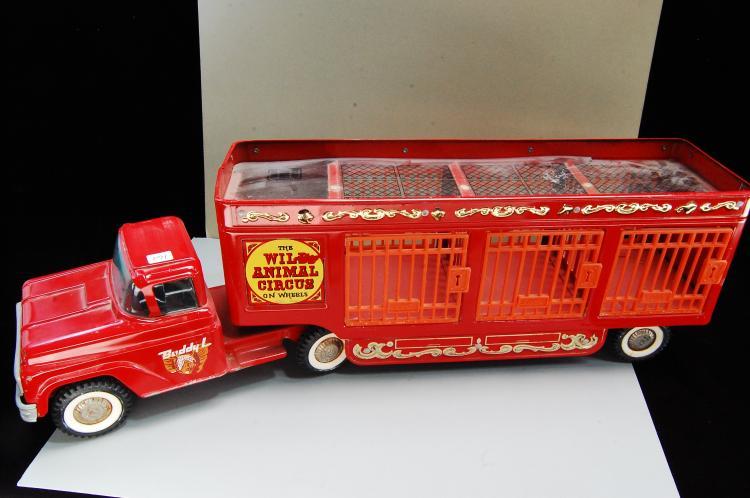 Lot 161: Vintage Buddy L Pressed Steel Wild Animal Circus S