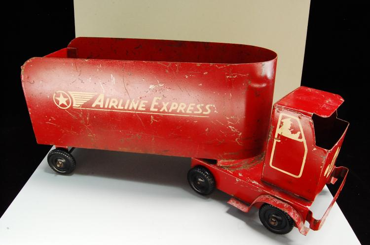 Lot 172: Antique Rare Handmade Pressed Steel Airline Expres