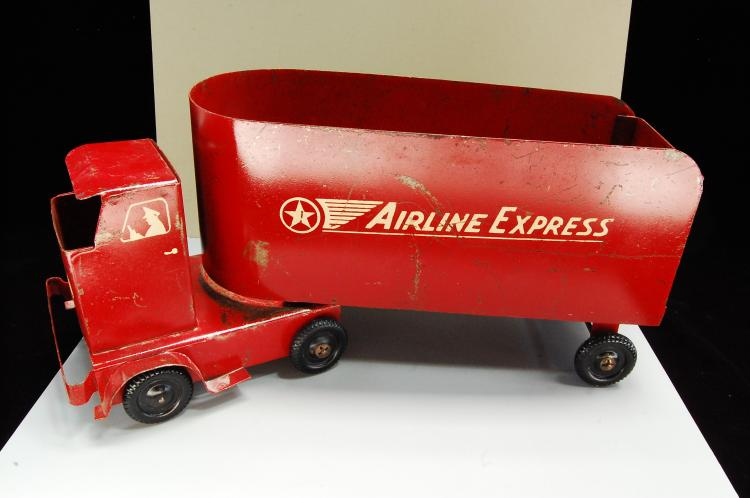 Antique Rare Handmade Pressed Steel Airline Expres