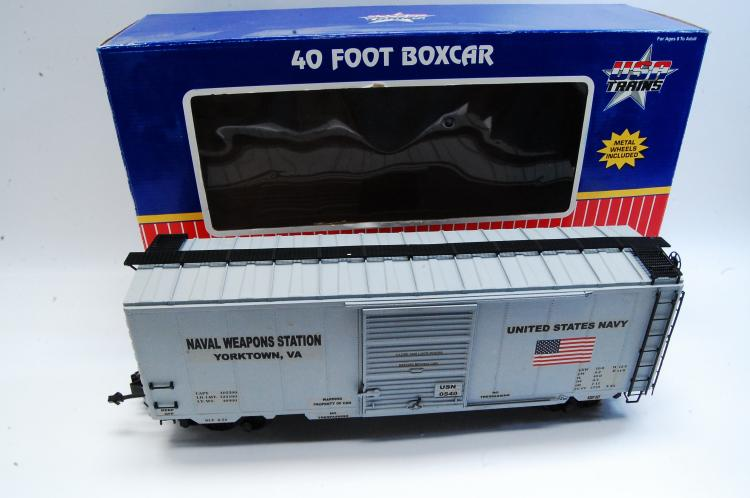 USA Trains G Scale Navy Weapons Station 40' Box Train Car
