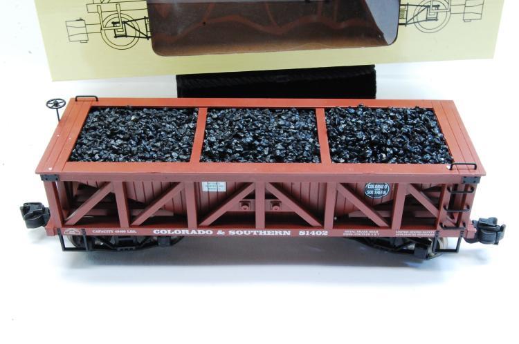 Lot 100G: Aristo Craft Coal Hopper Train Car G Scale Colorado & Southern Graffics