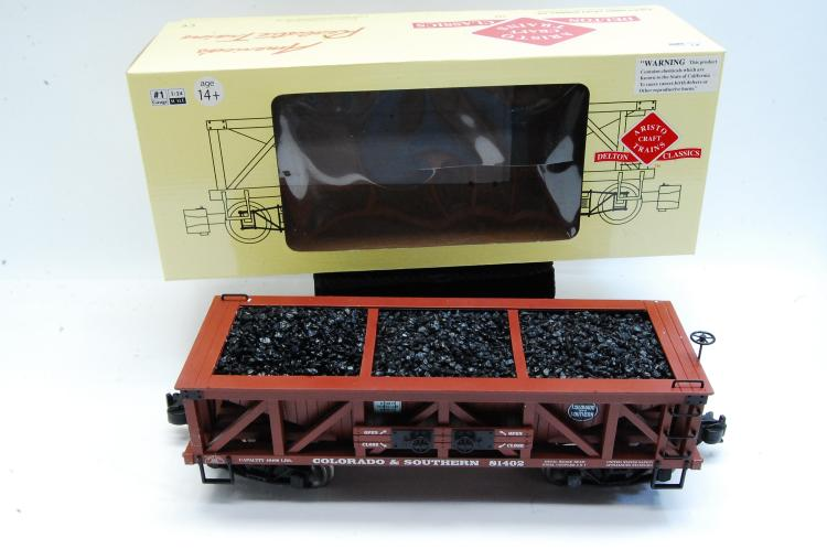 Aristo Craft Coal Hopper Train Car G Scale Colorado & Southern Graffics
