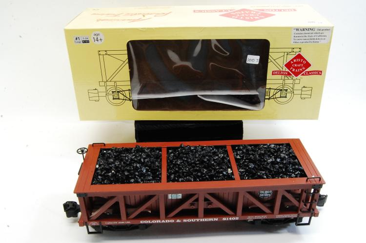 Aristo Craft G Scale Coal Hopper Train Car Colorado & Southern Railroad