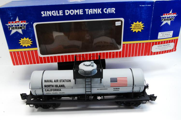 USA Trains G Scale Single Dome Tank Train Car Naval Airstation Graffics