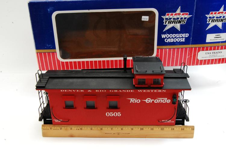 Lot 100M: USA Trains Wood Sided Caboose with D&RGW Graffics