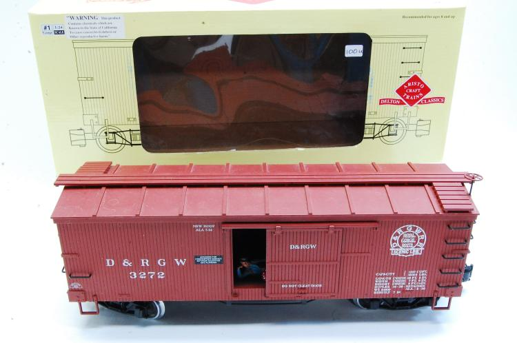 Aristo Craft G Scale D&RGW Classic Wood Train Box Car