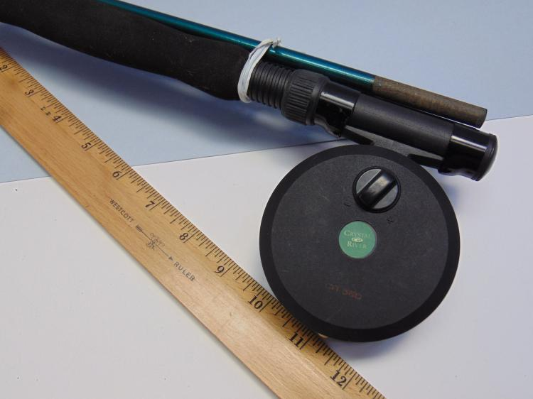 Lot 2: Crystal River 3 Piece Fly Fishing Rod With Reel