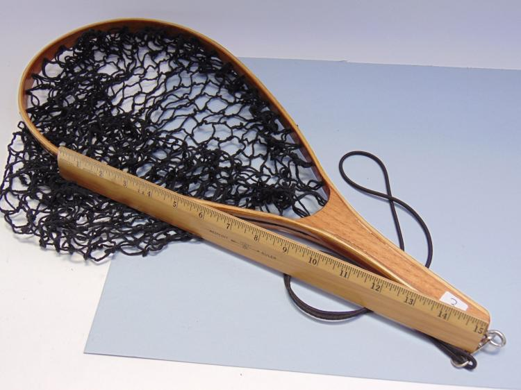 Lot 3: Hand Crafted Wooden Laminated Fishing Net