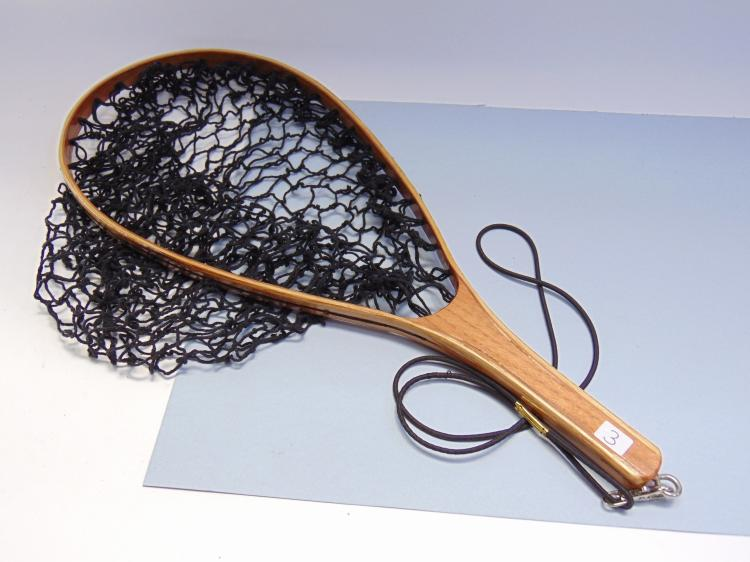 Hand Crafted Wooden Laminated Fishing Net