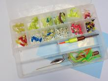 Lot 12: Plano Separated Clear Tackle Box with Many Jigs