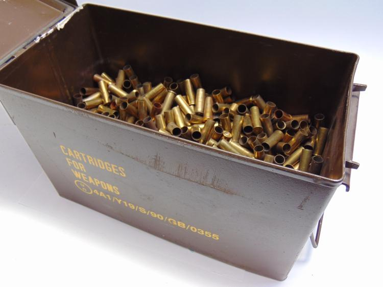 Ammo Can With .38 Special Brass  Weighs 16.5 lbs. with can
