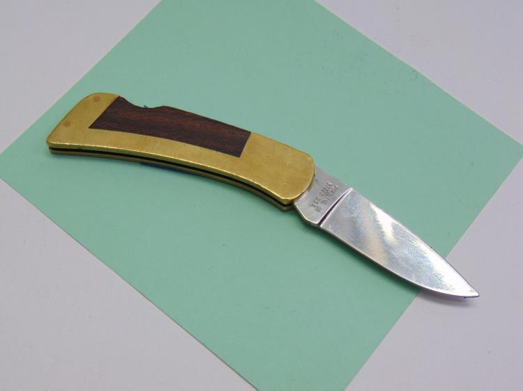Vintage Gerber Locking Blade Folding Knife With 10kt Gold and Diamond Logo