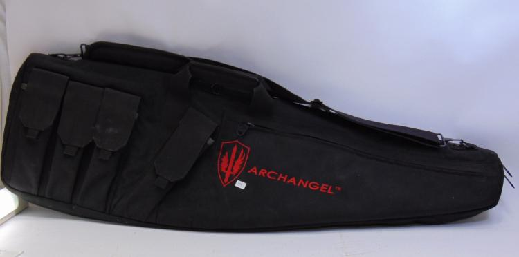 Archangel Small Rifle Protective Case With Ammo Holders and Zippered Storage Zcompartments