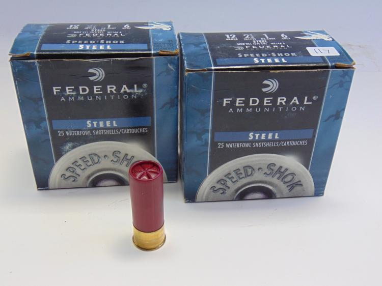 Federal Speed-Shok 12 Gauge Shotshell Box Lot Of 2