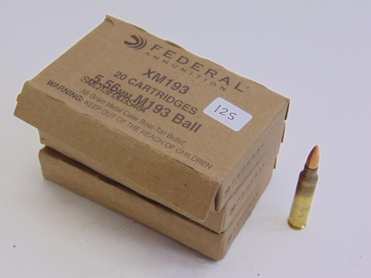 Federal Ammo 5.56mm M193 Ball Cartridges