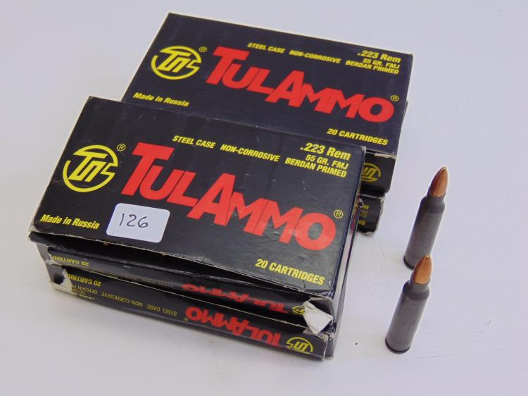 Tul Ammo .223 Rem 55 Gr Cartridge Box Lot Of 4