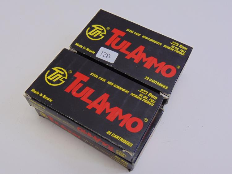 Tul Ammo 223 Rem 55gr Cartridge Box Lot Of 4