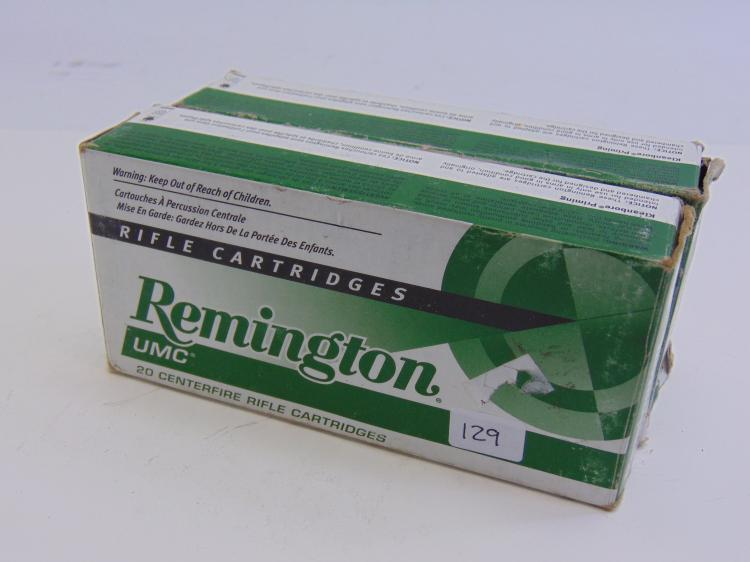 Remington 223 Caliber Rifle Cartridge Box Lot Of 2