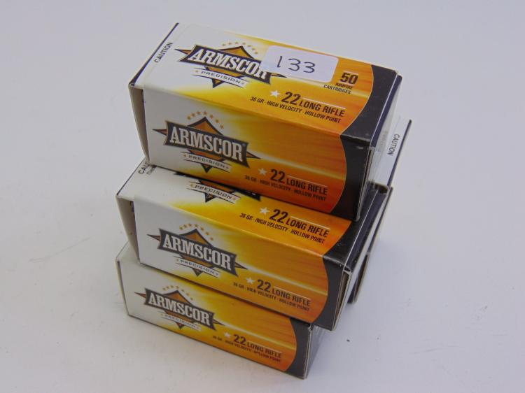 Armscor 22 Long Rifle 36gr Hollow Point Cartridges