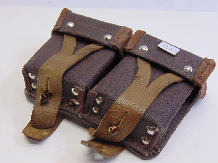 Vintage Leather Ammunition Belt Pouch