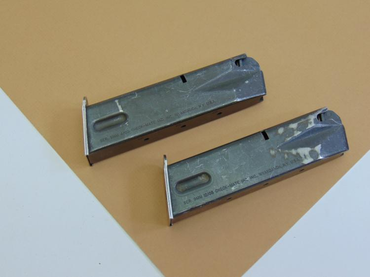 Check-Mate 9mm Ammunition Magazine Lot Of 2