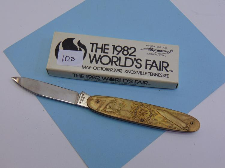 1982 Parker Cutlery Worlds Fair Pocket Knife