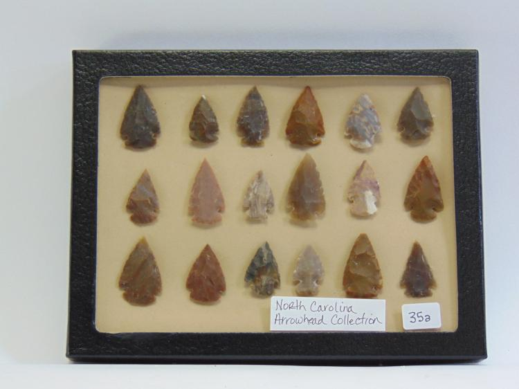 North Carolina Stone Arrowhead Collection